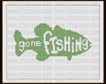 Gone Fishing Afghan, C2C Crochet Pattern, Written Row Counts, C2C Graphs, Corner to Corner, Crochet Pattern, C2C Graph
