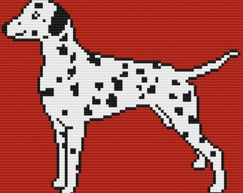 Dalmatian Afghan, C2C Crochet Pattern, Written Row by Row, Color Counts, Instant Download, C2C Graph, C2C Pattern, Graphgan Pattern