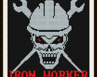 Iron Worker Afghan, C2C Crochet Pattern, Written Row Counts, C2C Graphs, Corner to Corner, Crochet Pattern, C2C Graph