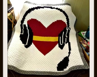 1st Call, 1st Voice, Gold Line, Dispatcher Remembrance Afghan, C2C Crochet Pattern, C2C Graphs, Written Row by Row Word Counts