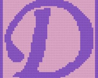 Letter D Swirly Kids Blanket, C2C Crochet Pattern, Written Row Counts, C2C Graphs, Corner to Corner, Crochet Pattern, C2C Graph