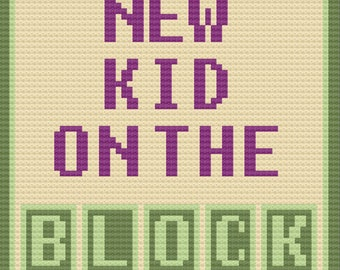 New Kid on the Block Baby Afghan, C2C Crochet Pattern, Written Row by Row, Color Counts, Instant Download, C2C Graph, C2C Pattern, Graphgan