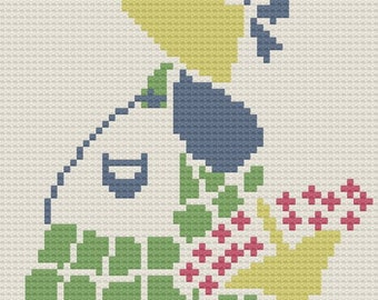 Sunbonnet Sue Afghan, C2C Crochet Pattern, Written Row Counts, C2C Graphs, Corner to Corner Crochet Pattern, Graphgan, Sunbonnet Sue C2C