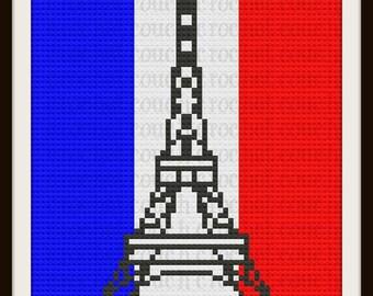 Eiffel Tower Afghan, C2C Crochet Pattern, Written Row Counts, C2C Graphs, Corner to Corner, Crochet Pattern, C2C Graph