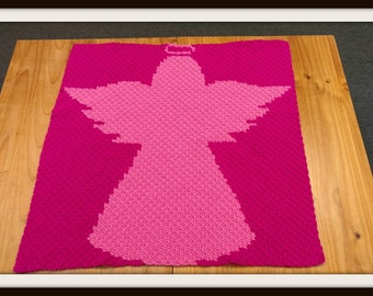 Angel Silhouette Kids Afghan, C2C Crochet Pattern, Written Row Counts, C2C Graphs, Corner to Corner, Crochet Pattern, C2C Graph