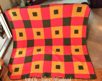 Penny Quilt Blanket, C2C Crochet Pattern, Written Row Counts, C2C Graphs, Corner to Corner, Crochet Pattern, C2C Graph