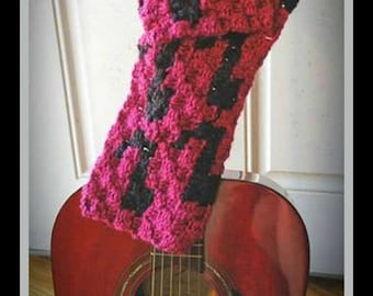 Musical Notes Scarf, C2C Crochet Pattern, Written Row Counts, C2C Graphs, Corner to Corner Crochet Pattern, C2C Graph
