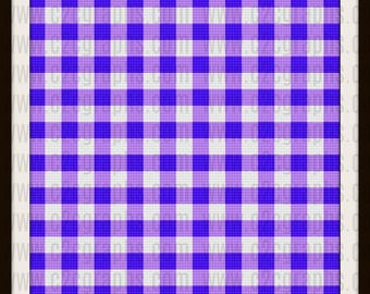 Gingham King size Blanket, C2C Crochet Pattern, Written Row Counts, C2C Graphs, Corner to Corner, Crochet Pattern, C2C Graph