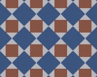 Marji Quilt Afghan C2C Crochet Pattern, Written Row by Row Counts, C2C Graphs, Corner to Corner Crochet Pattern, Graphgan, C2C Graph