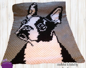 Boston Terrier, C2C Crochet Pattern, Written Row Counts, C2C Graphs, Corner to Corner, Crochet Pattern, C2C Graph