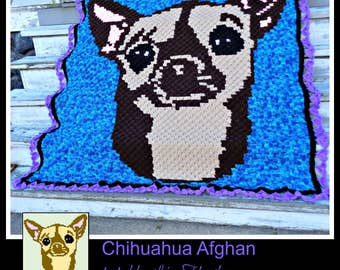 Chihuahua Afghan, C2C Crochet Pattern, Written Row Counts, C2C Graphs, Corner to Corner Crochet Pattern, C2C Graph