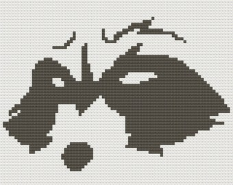 Raccoon Glimpse Afghan, C2C Crochet Pattern, Written Row by Row, Color Counts, Instant Download, C2C Graph, C2C Pattern, Graphgan