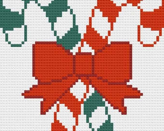 Candy Cane Afghan, C2C Crochet Pattern, Written Row Counts, C2C Graphs, Corner to Corner Crochet Pattern, Graphgan, Candy Cane C2C Graph