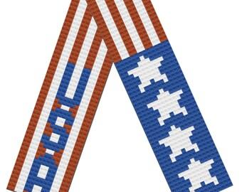 Patriotic Scarf, C2C Crochet Pattern, Written Row by Row, Color Counts, Instant Download, C2C Graph, C2C Pattern