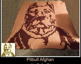 Pitbull Afghan, C2C Crochet Pattern, Written Row Counts, C2C Graphs, Corner to Corner, Crochet Pattern, C2C Graph
