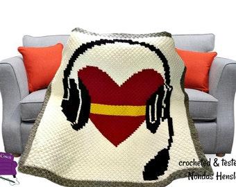 1st Call 1st Voice Gold Line Dispatcher Remembrance Afghan, C2C Crochet Pattern, Written Row Counts, Corner to Corner, Crochet Pattern