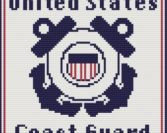 Coast Guard Afghan, C2C Crochet Pattern, Written Row Counts, C2C Graphs, Corner to Corner, Crochet Pattern, C2C Graph