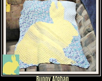 Bunny Baby Afghan, C2C Crochet Pattern, Written Row Counts, C2C Graphs, Corner to Corner, Crochet Pattern, C2C Graph