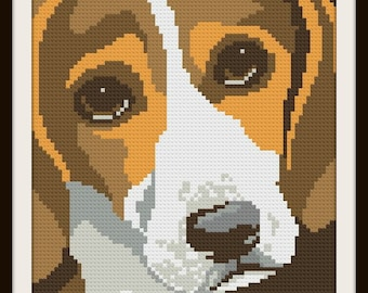 Beagle Blanket, C2C Crochet Pattern, Written Row Counts, C2C Graphs, Corner to Corner, Crochet Pattern, C2C Graph