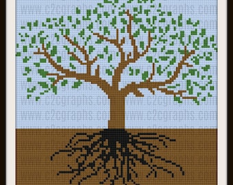 Tree of Life Afghan, C2C Crochet Pattern, Written Row Counts, C2C Graphs, Corner to Corner, Crochet Pattern, C2C Graph