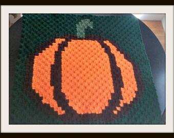 Pumpkin Square, C2C Crochet Pattern, Written Row Counts, C2C Graphs, Corner to Corner, Crochet Pattern, C2C Graph