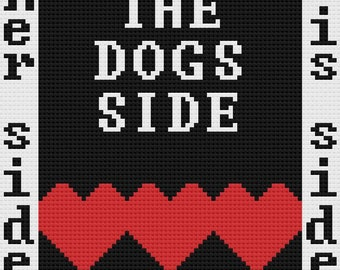 Dogs Side Afghan, Her Side, His Side, C2C Crochet Pattern