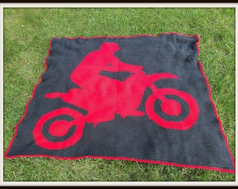 Dirt Bike Crochet Pattern, SC Graph, TSS Graph, Word Chart, Dirt Bike Crochet Pattern