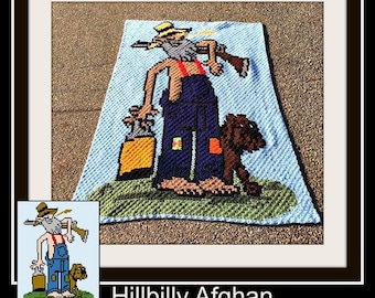 Hillbilly Afghan, C2C Crochet Pattern, Written Row Counts, C2C Graphs, Corner to Corner, Crochet Pattern, C2C Graph