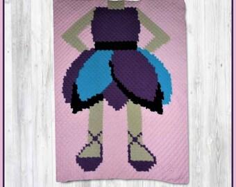 Ballerina Girls Afghan, C2C Crochet Pattern, Written Row Counts, C2C Graphs, Corner to Corner, Crochet Pattern, C2C Graph