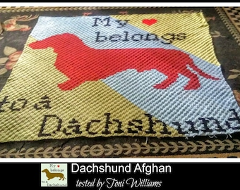 Dachshund Afghan, C2C Crochet Pattern, Written Row Counts, C2C Graphs, Corner to Corner, Crochet Pattern, C2C Graph