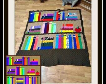 Bookcase Afghan 2, C2C Crochet Pattern, Written Row Counts, C2C Graphs, Corner to Corner, Crochet Pattern, C2C Graph