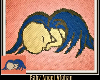 Baby Angel Afghan 2, C2C Crochet Pattern, Written Row Counts, C2C Graphs, Corner to Corner, Crochet Pattern, C2C Graph