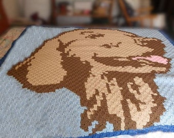 Golden Retriever Afghan, C2C Crochet Pattern, Written Row Counts, C2C Graphs, Corner to Corner, Crochet Pattern, C2C Graph