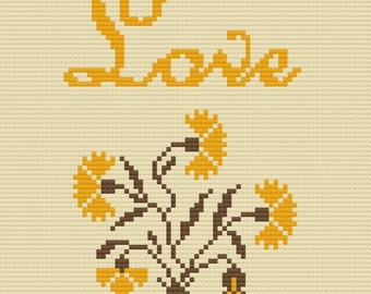 Love Afghan, Inspiration Series, C2C Crochet Pattern, Written Row by Row, Color Counts, Instant Download, C2C Graph, C2C Pattern, Graphgan