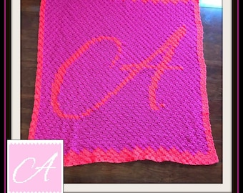 Letter A, Baby Blanket, C2C Graph, & Written Word Chart