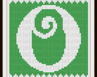 Letter O Kids Afghan, C2C Crochet Pattern, Written Row Counts, C2C Graphs, Corner to Corner, Crochet Pattern, C2C Graph