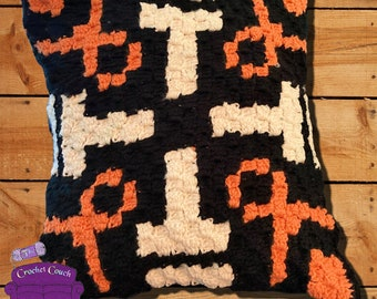 City Streets Pillow, C2C Crochet Pattern, Written Row by Row, Color Counts, Instant Download, C2C Graph, C2C Pattern, Crochet Pillow