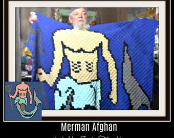 Merman Afghan, C2C Crochet Pattern, Written Row Counts, C2C Graphs, Corner to Corner, Crochet Pattern, C2C Graph