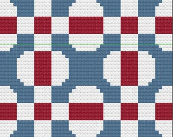 Amanda Small Quilt Blanket, C2C Crochet Pattern, Written Row Counts, C2C Graphs, Corner to Corner, Crochet Pattern, C2C Graph