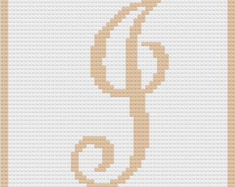 Letter J Baby Afghan, C2C Crochet Pattern, Written Row by Row, Color Counts, Instant Download, C2C Graph, C2C Pattern, Graphgan Pattern