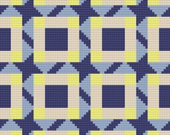 Kori Quilt Afghan, C2C Crochet Pattern, Written Row Counts, C2C Graphs, Corner to Corner, Crochet Pattern, C2C Graph