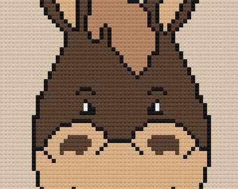Horse Kids Afghan, C2C Crochet Pattern, Written Row Counts, C2C Graphs, Corner to Corner, Crochet Pattern, C2C Graph