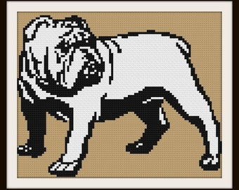 Bulldog Afghan C2C Crochet Pattern, Written Row by Row Counts, C2C Graphs, Corner to Corner Crochet Pattern, Graphgan, Bulldog C2C Crochet