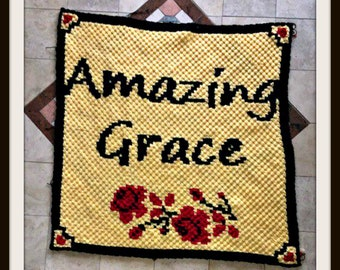 Amazing Grace Afghan, C2C Crochet Pattern, Written Row Counts, C2C Graphs, Corner to Corner, Crochet Pattern, C2C Graph