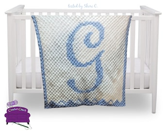 Letter G Baby Afghan, C2C Crochet Pattern, Written Row by Row, Color Counts, Instant Download, C2C Graph, C2C Pattern, Graphgan Pattern