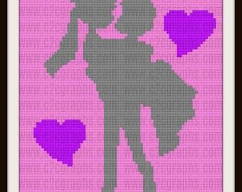 Bride and Groom  Afghan, C2C Crochet Pattern, Written Row Counts, C2C Graphs, Corner to Corner, Crochet Pattern, C2C Graph