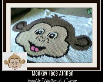 Monkey Face Twin Afghan, C2C Crochet Pattern, Written Row Counts, C2C Graphs, Corner to Corner, Crochet Pattern, C2C Graph