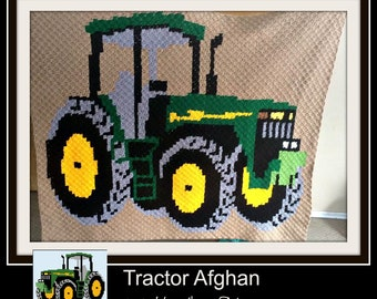 Tractor Afghan, C2C Graph, Written Word Chart