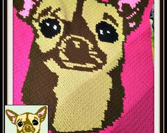 Chihuahua Afghan, C2C Crochet Pattern, Written Row Counts, C2C Graphs, Corner to Corner, Crochet Pattern, C2C Graph