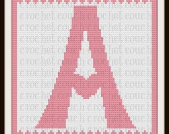 Letter A Heart Afghan, C2C Crochet Pattern, Written Row Counts, C2C Graphs, Corner to Corner, Crochet Pattern, C2C Graph